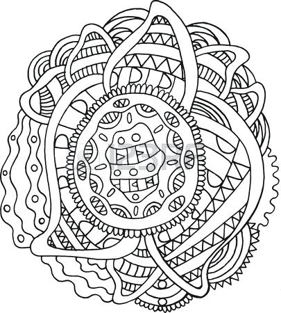 405x450 Coloring For Kids Online Doodle Mandala Coloring Page For Adults