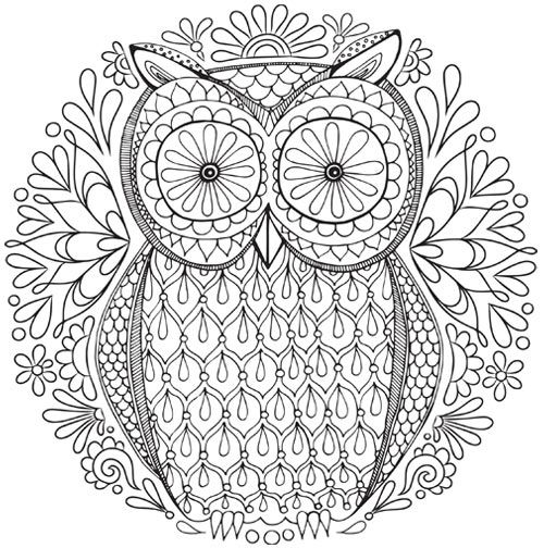 500x504 Free Owl Nature Mandala Coloring Page Inkleur
