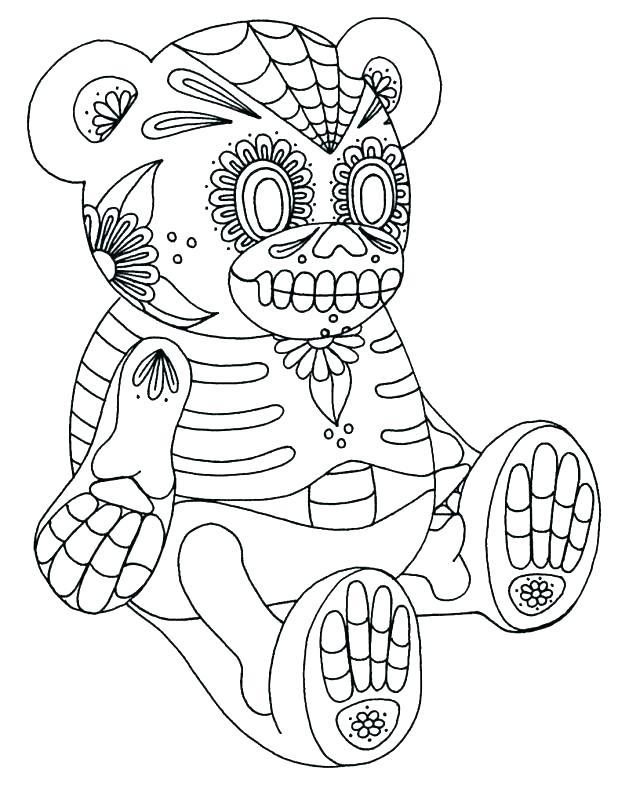 618x795 Coloring Pages Sugar Skulls Sugar Skull Coloring Pages Sugar Skull