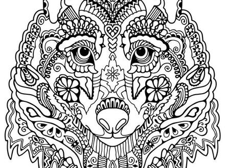 Mandala Wolf Coloring Pages