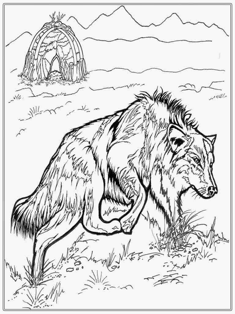 768x1024 Halloween Mandala Wolf Head Coloring Pages For Lovely Adult