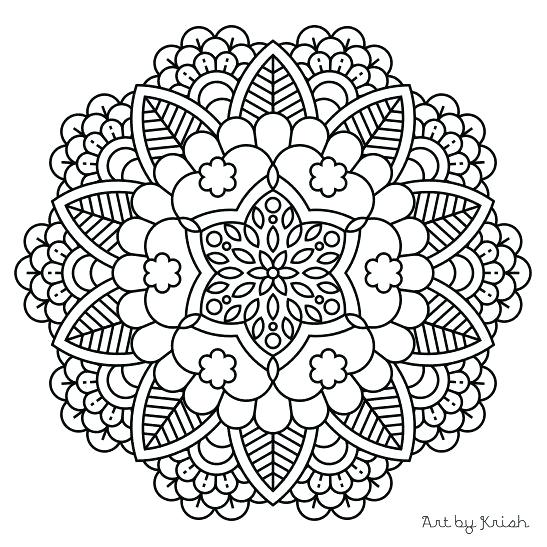 547x547 Mandala Printable Coloring Pages Wolf Coloring Pages For Adults