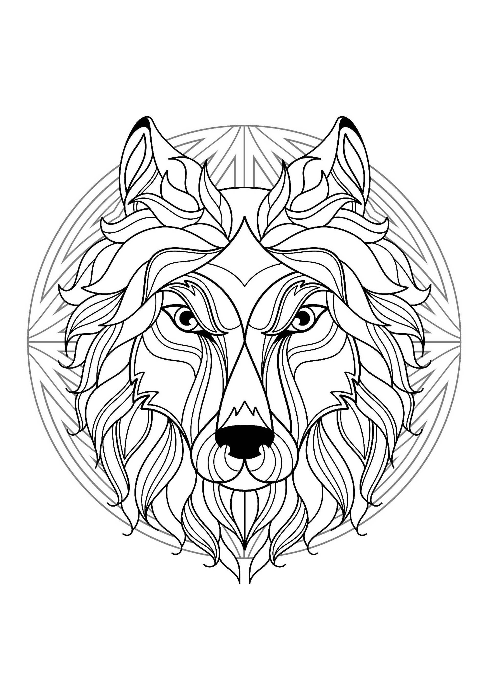 2000x2828 Mandala With Elegant Wolf Head And Beautiful Patterns