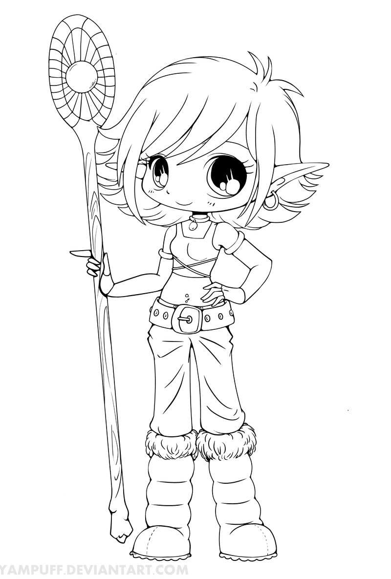 800x1185 Chibi Anime Girl Coloring Pages
