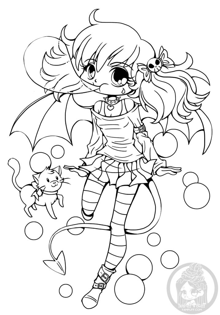 717x1024 Dessin Manga A Imprimer Bubblegum Suka Chibi Par Yampuff Chibi