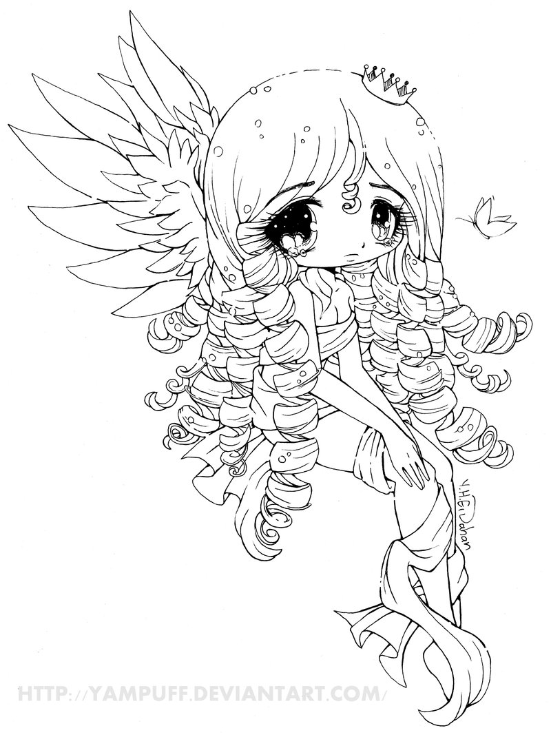 Manga Chibi Coloring Pages At Getdrawings Com Free For Personal
