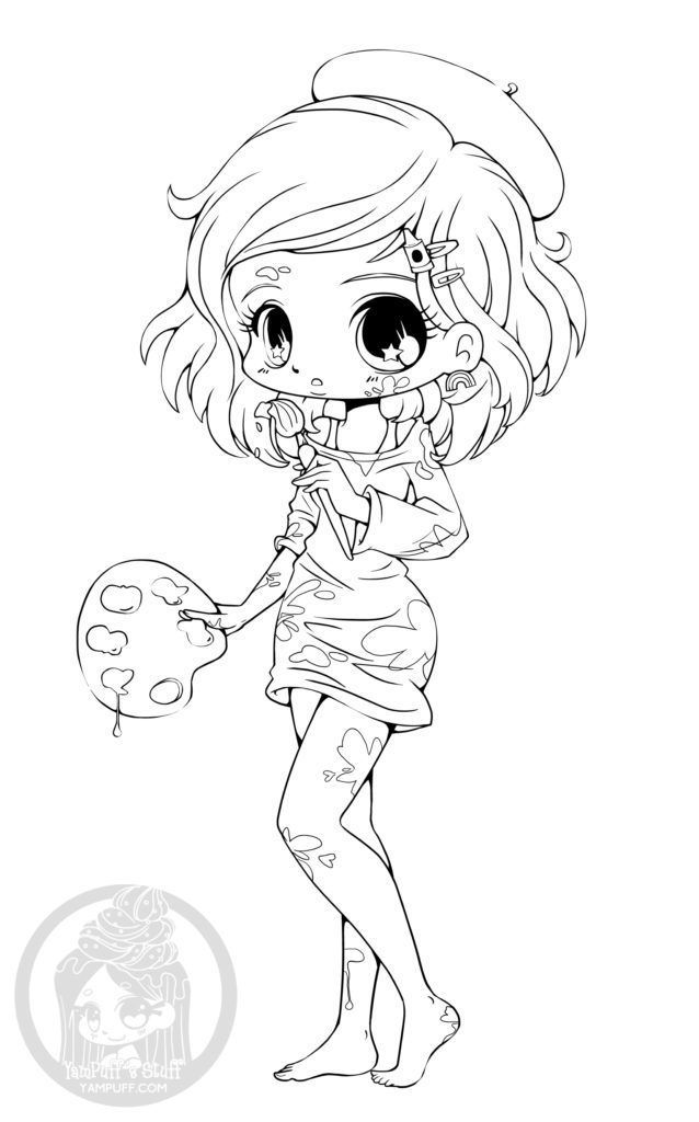 Manga Chibi Coloring Pages At Getdrawings Free Download