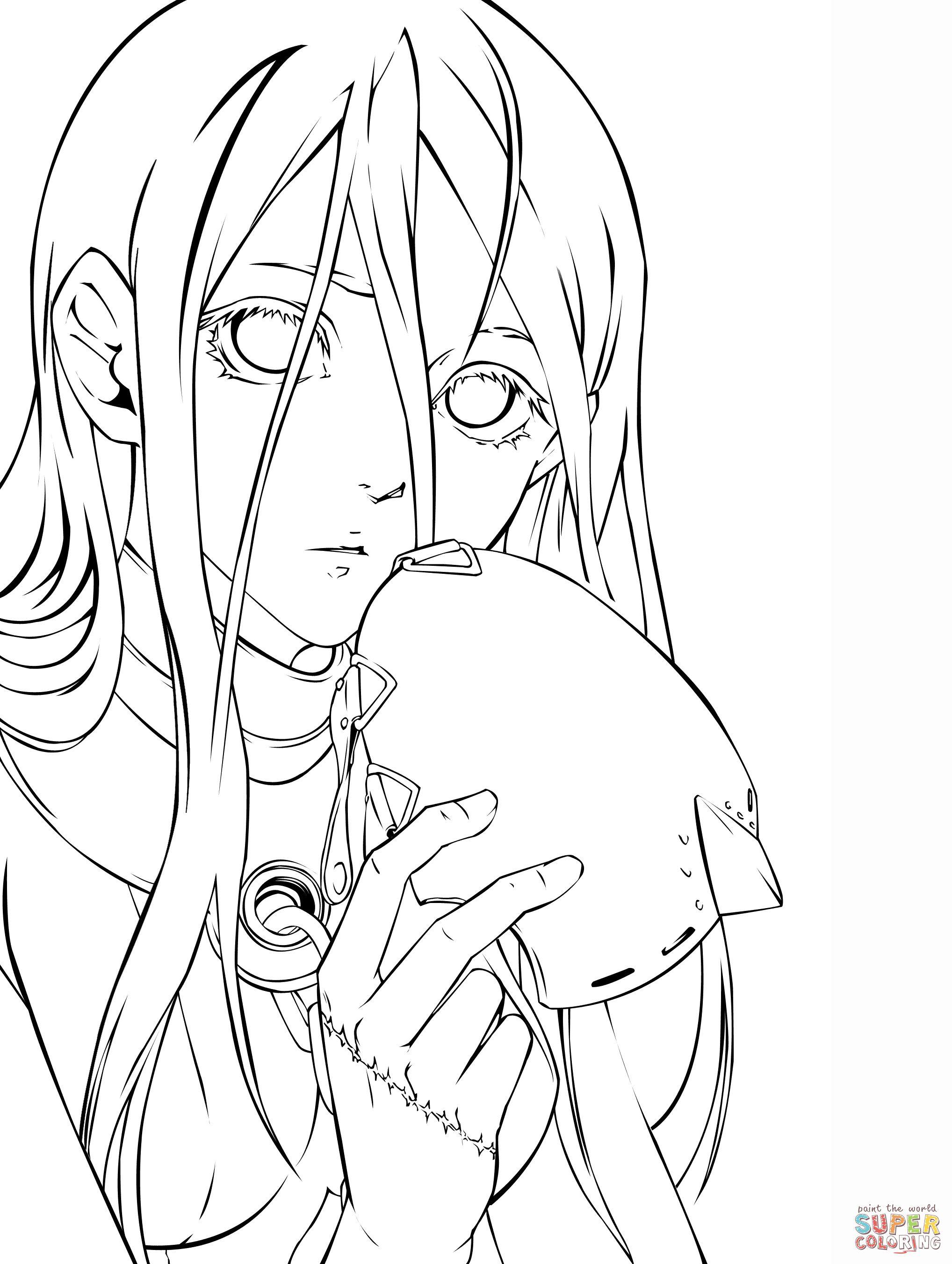 2036x2703 Jinsei Kataoka From Deadman Wonderland Manga Coloring Page Manga