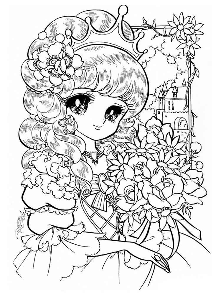 750x1000 Manga Coloring Pages Free Printable Manga Coloring Pages