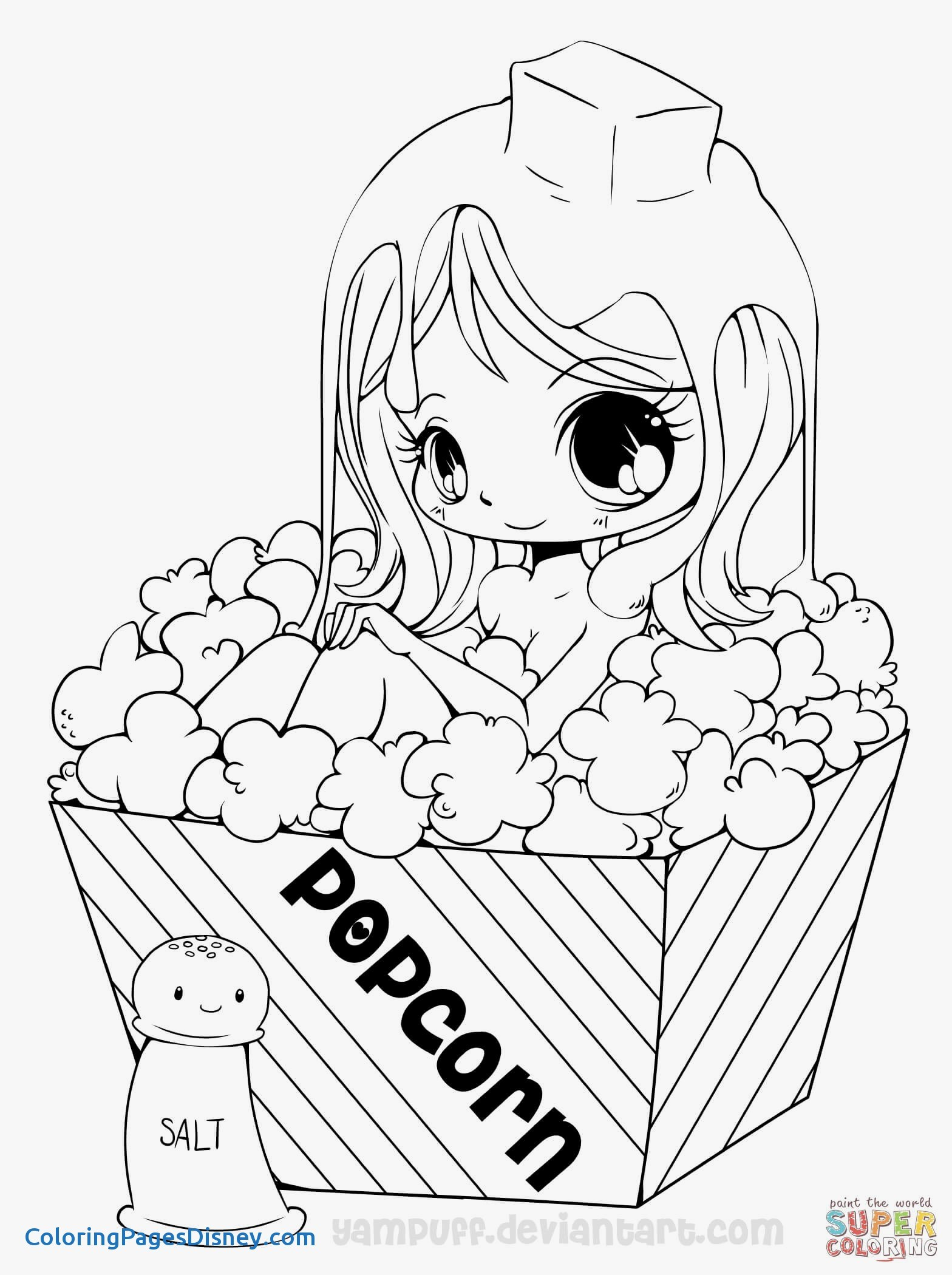 1568x2100 Claymore Manga Coloring Pages Beautiful Chibi Popcorn Girl