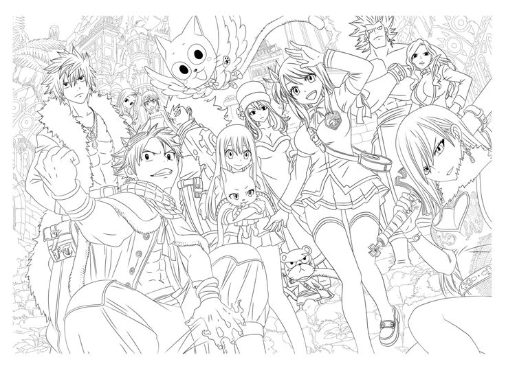 Manga Coloring Pages For Adults