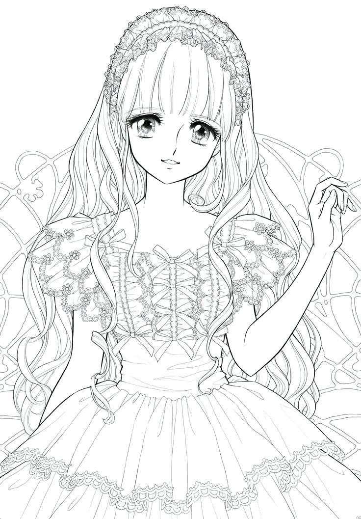 736x1057 Manga Coloring Pages Good Manga Coloring Pages With Additional