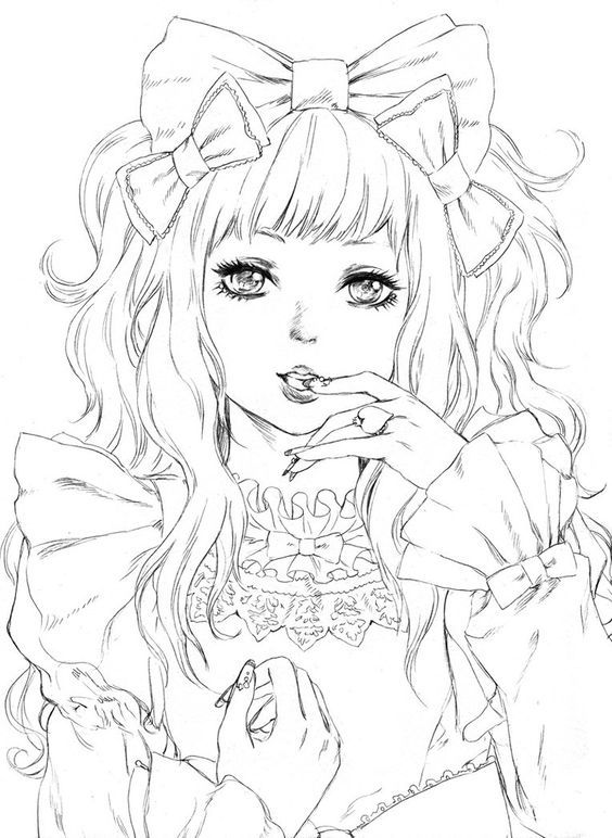 564x772 Anime Manga Coloring Saucy Lolita