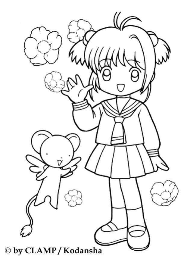 Manga Coloring Pages For Kids