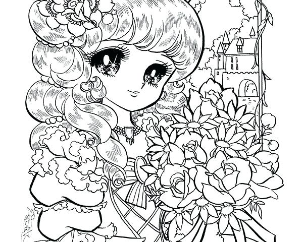 600x480 Manga Coloring Pages Anime Coloring Pages