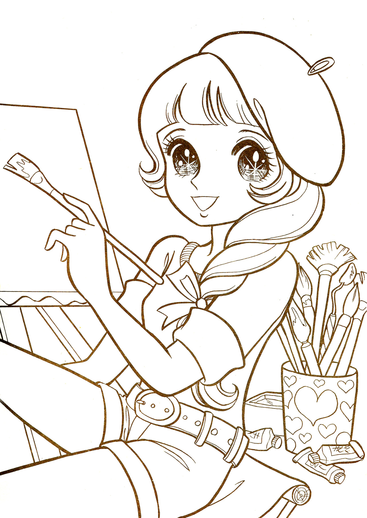 1280x1809 Abfebfddbeedabda About Manga Coloring Pages On With Hd Resolution