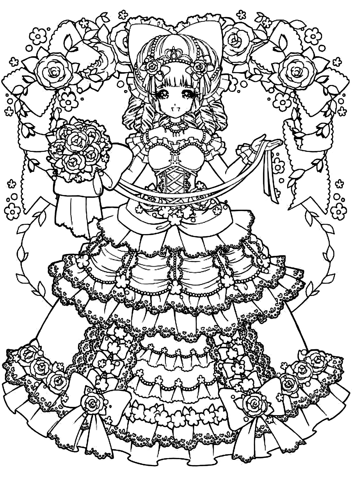 1400x1909 Back To Childhood Manga Girl Dress