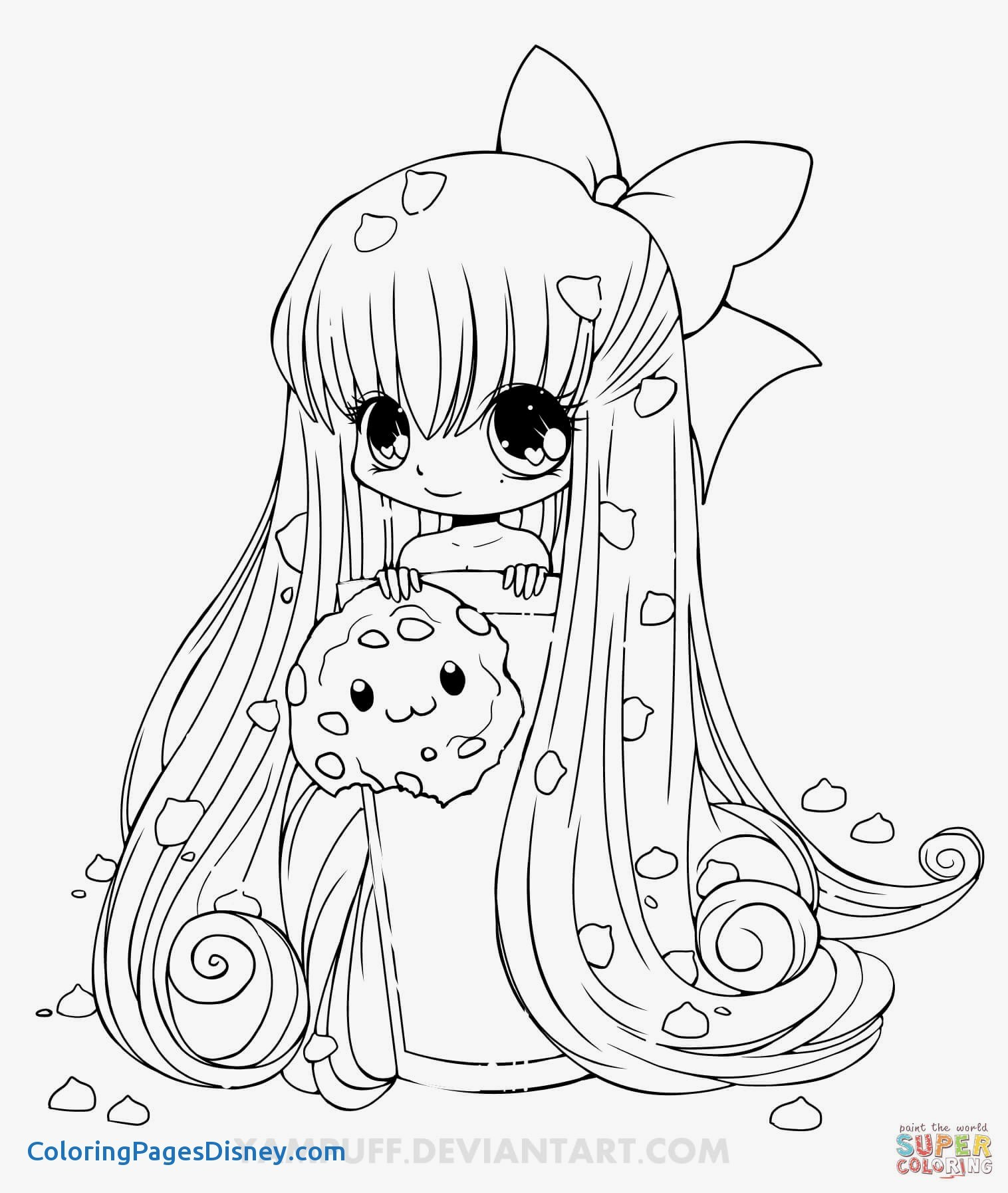 1516x1793 Claymore Manga Coloring Pages Awesome Chibi Cookie Girl Coloring