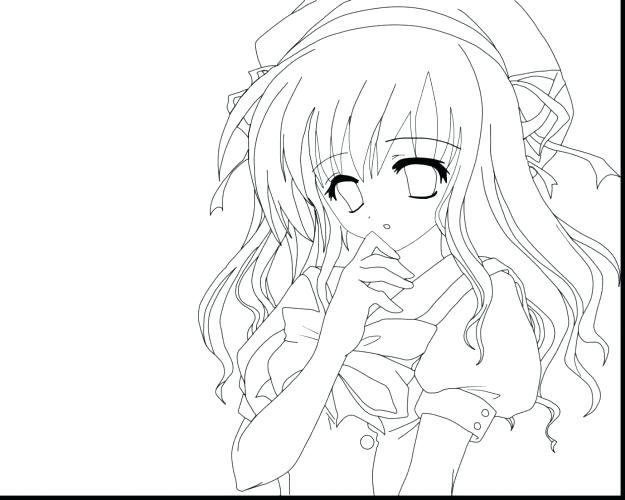 625x500 Cute Anime Chibi Girl Coloring Pages Of Page Cut