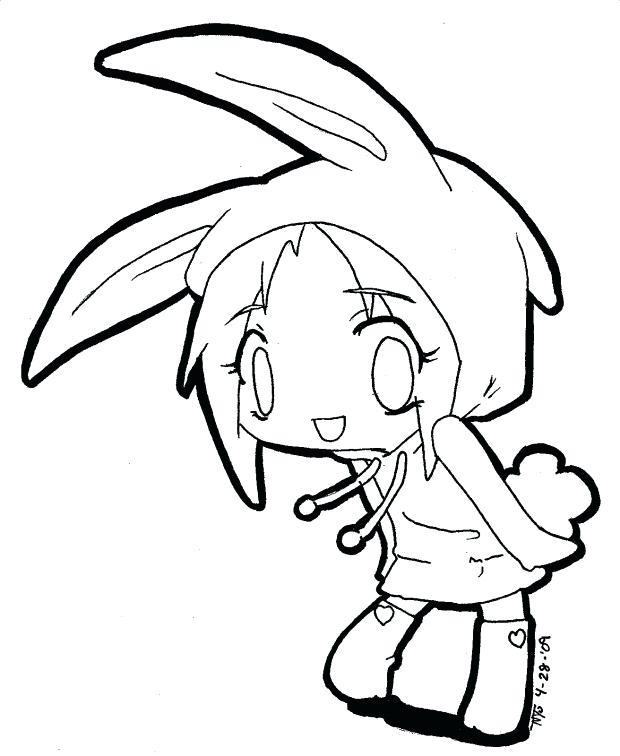 620x756 Manga Girl Coloring Pages Cute Anime Coloring Pages With Bunny