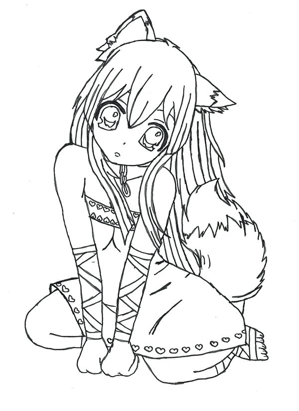 600x825 Manga Girl Coloring Pages Ing Pge Manga Girl Coloring Sheets