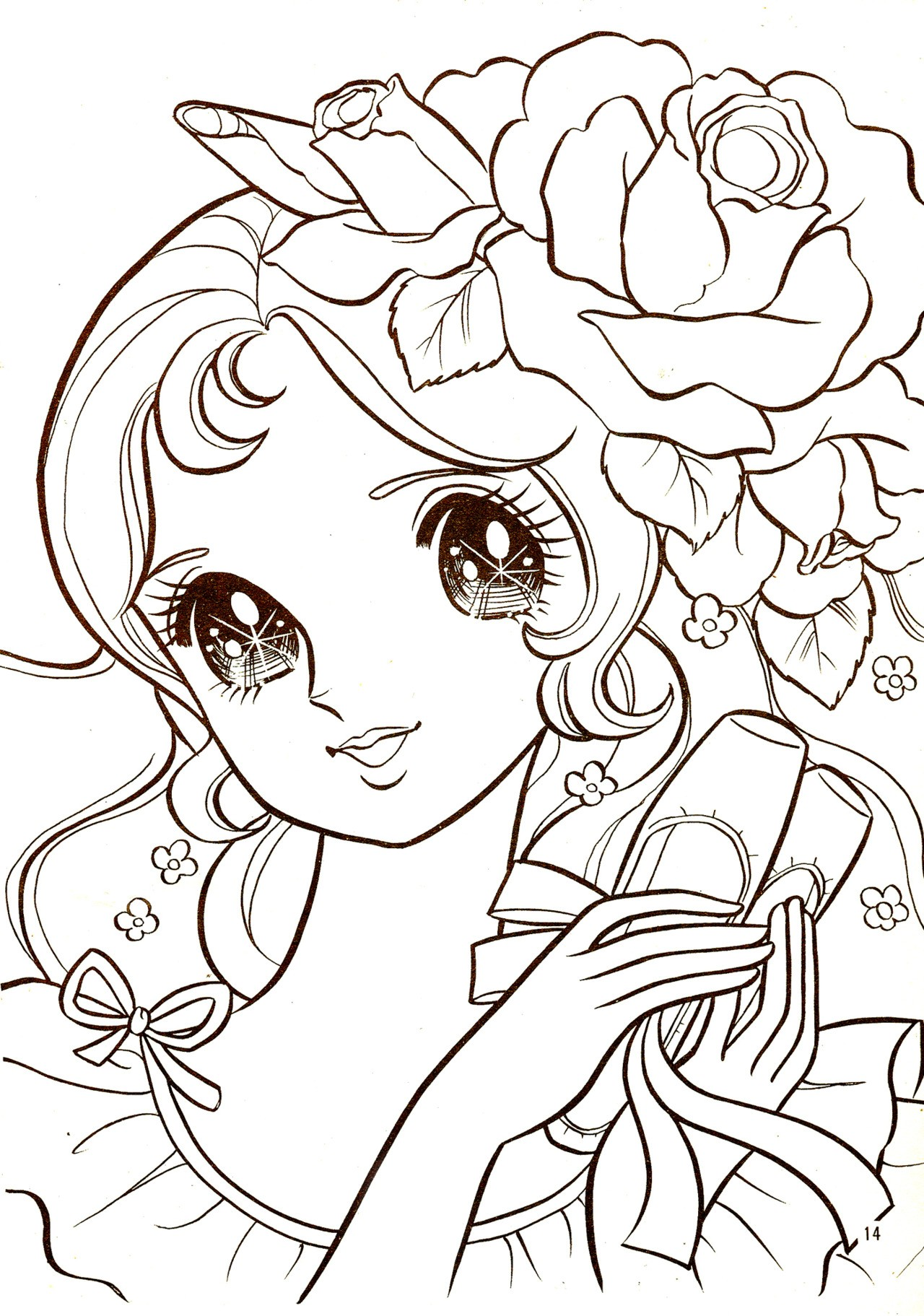 1280x1823 Manga Naruto Coloring Pages For Kids New Cute Manga Girl Coloring