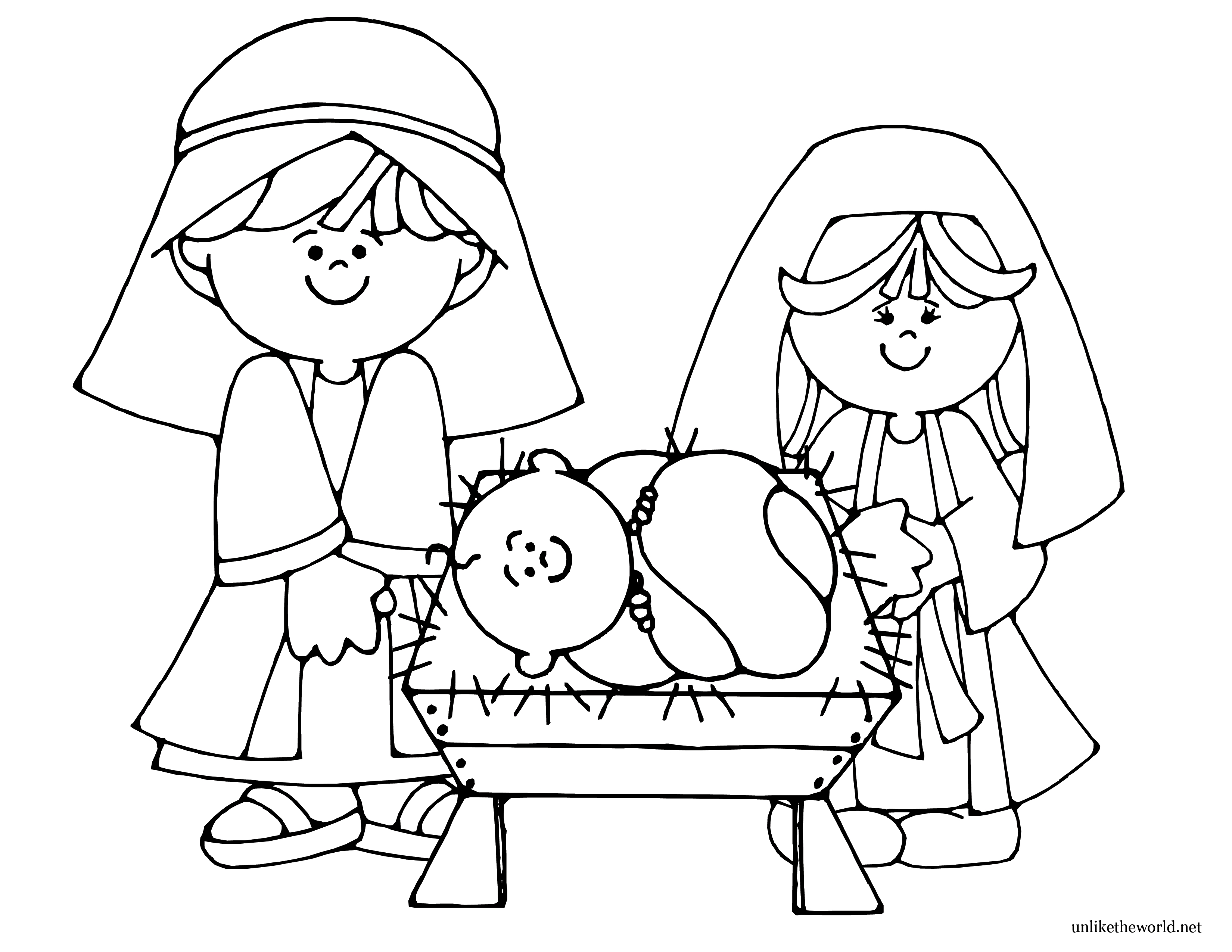 3300x2550 Improved Manger Coloring Page Jesus Drawing