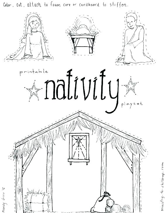 564x727 Manger Coloring Page Baby In Manger Coloring Page Nativity