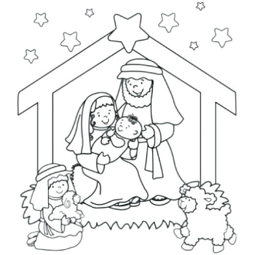 520x520 In Manger Coloring Page Coloring Pages Free Find The Newest