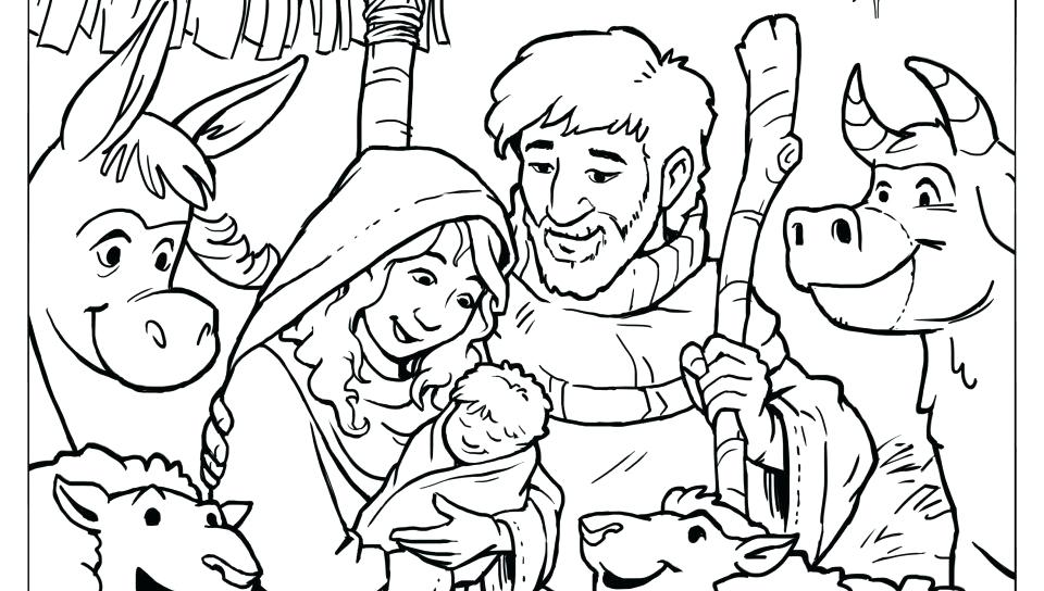 960x544 Jesus In Manger Coloring Page Baby In Manger Coloring Page Free