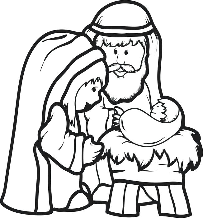 652x700 Jesus Is Born Coloring Page