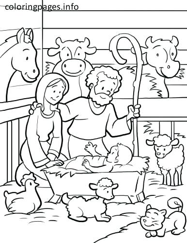 386x500 Manger Coloring Page With Wallpaper Free Download Manger Coloring