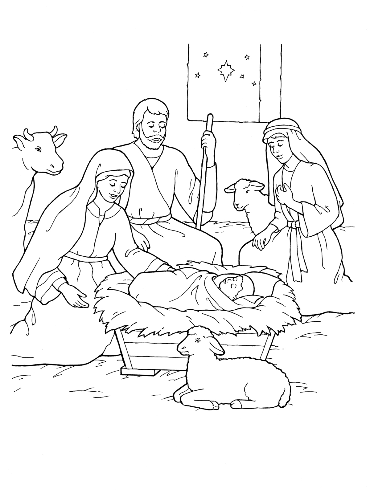 1200x1600 Manger Coloring Pages