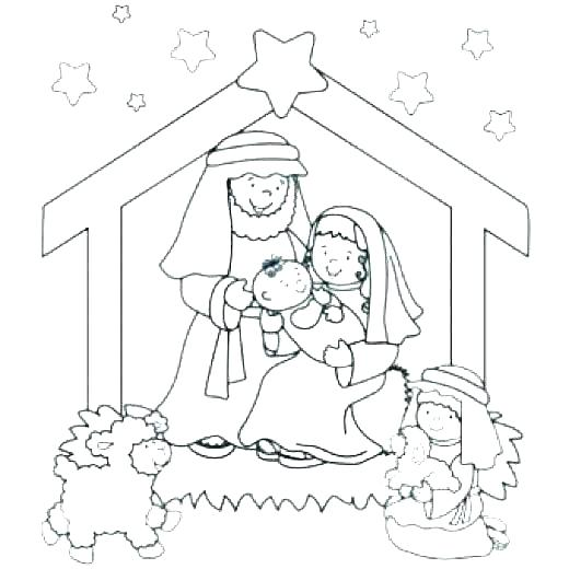 520x520 Manger Coloring Pages Free Er Coloring Pages Beautiful To Print