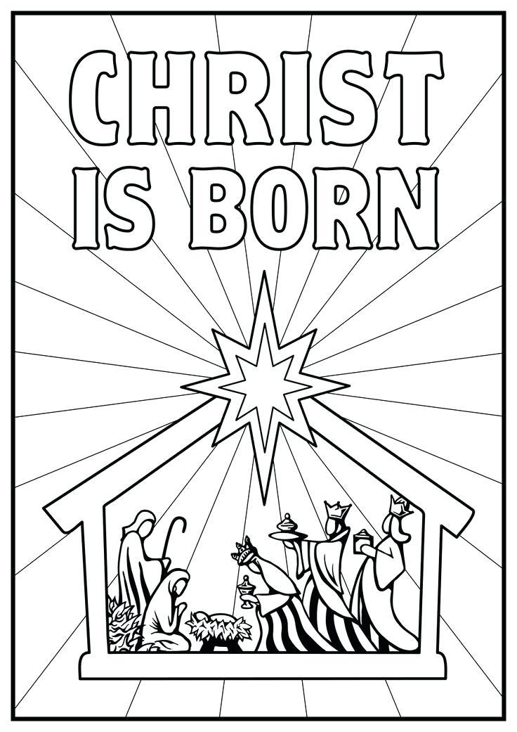 736x1041 Manger Coloring Pages Manger Coloring Pages Free Nativity Coloring