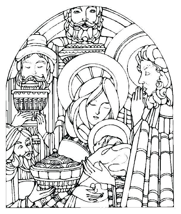 609x720 Nativity Color Pages Free Printable Nativity Coloring Pages