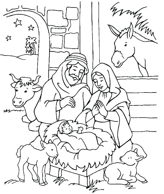 550x650 New Manger Coloring Pages To Print For Free Nativity Coloring Page