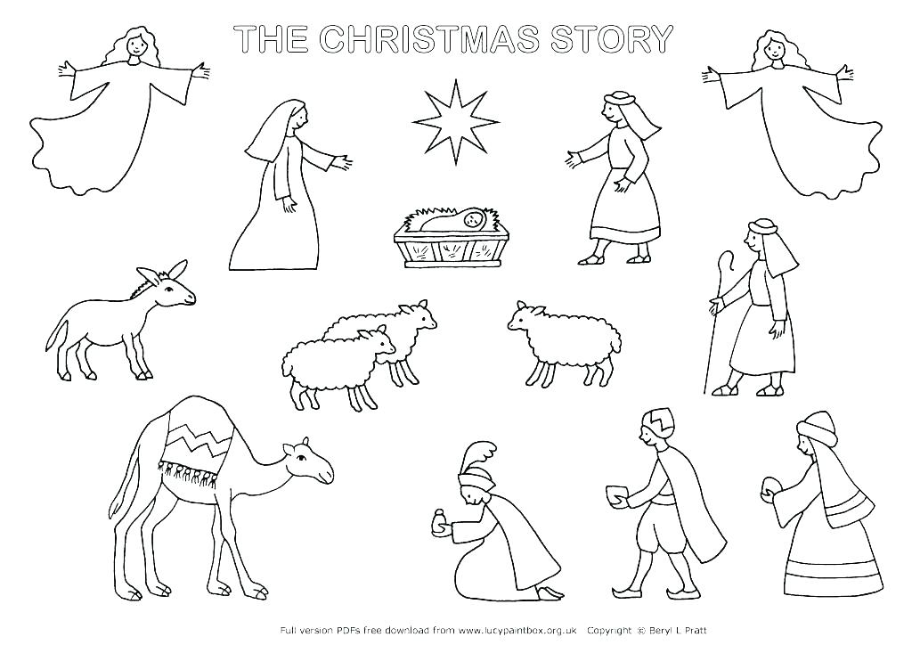 1024x724 Nativity Printable Coloring Pages