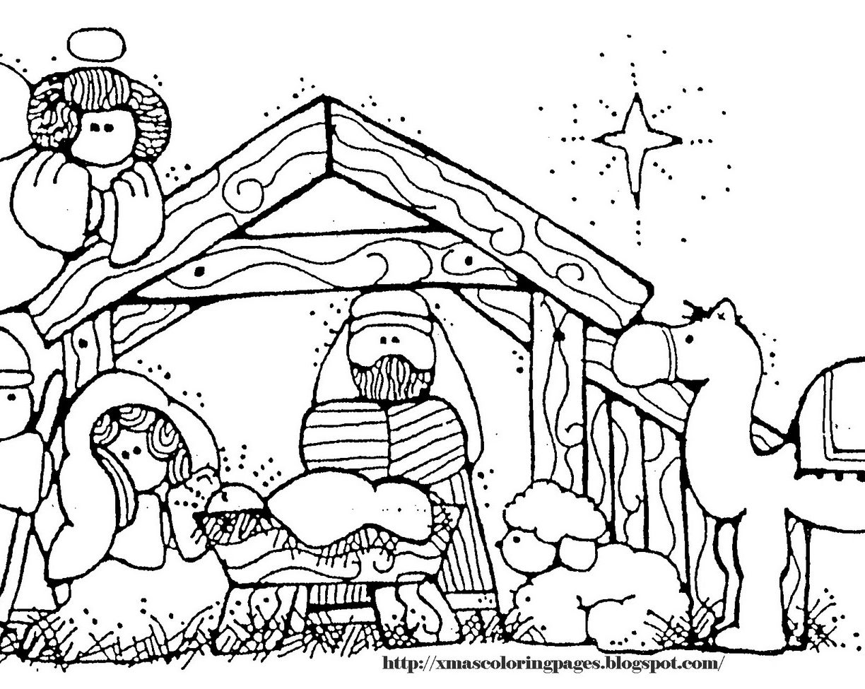 1224x975 Baby Jesus Nativity Coloring Pages Manger Free Printable Adult