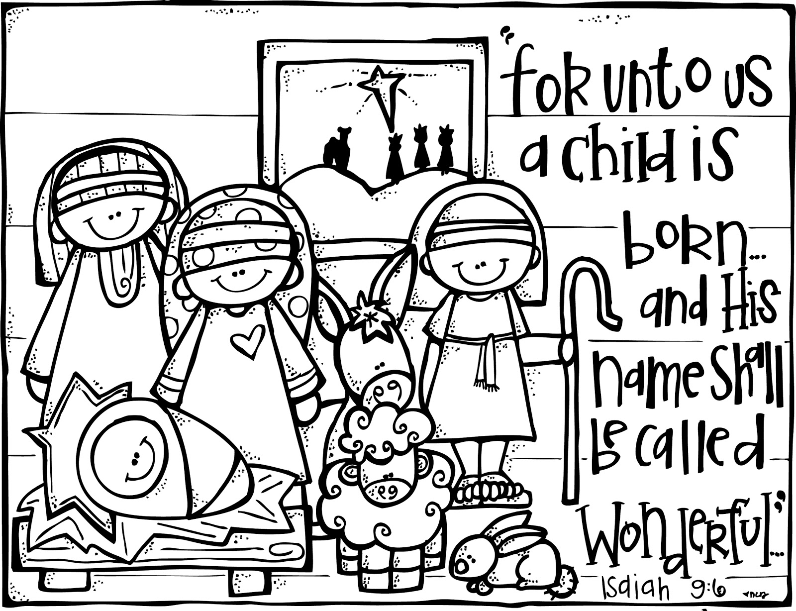 1600x1228 Birth Of Christ Coloring Pages Free Printable Nativity For Kids
