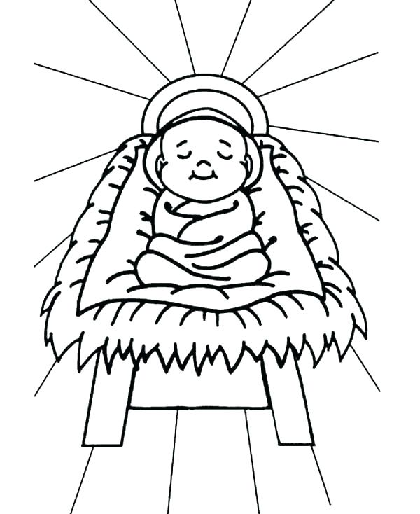 600x734 Manger Coloring Page Nativity Scene Coloring Pages Manger Coloring