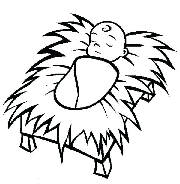 600x612 Manger Coloring Page Printable Baby Coloring Page Manger Coloring
