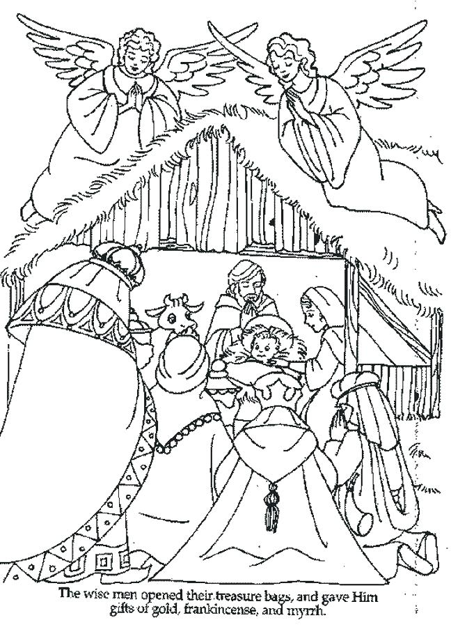 648x900 Manger Coloring Pages Baby In Manger Coloring Page Free Printable
