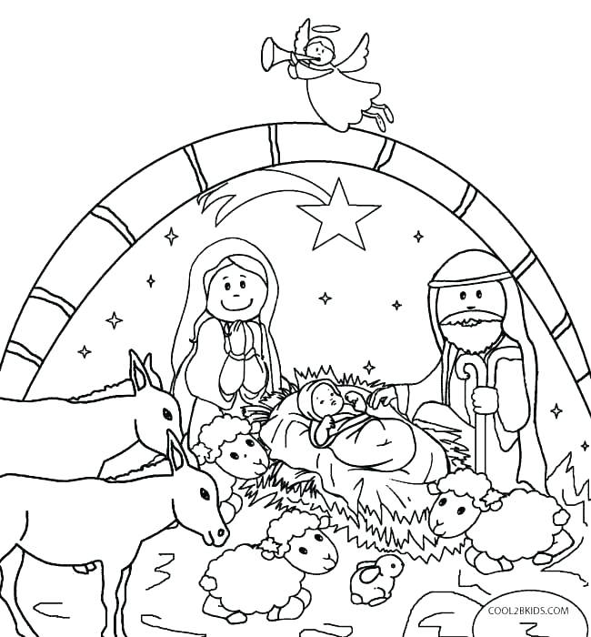 650x700 Manger Coloring Pages Printable Nativity Coloring Pages Free