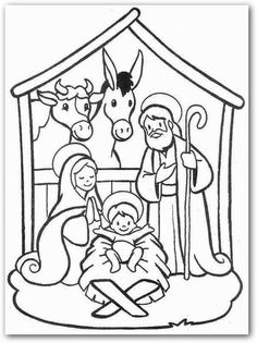 236x315 Printable Christmas Jesus In The Manger Coloring Pages
