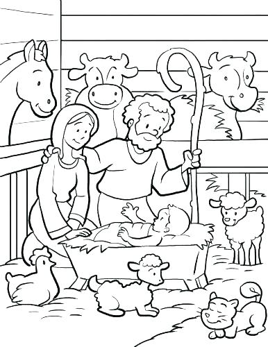 386x500 Baby Jesus In Manger Coloring Page Unique Baby Coloring Pages