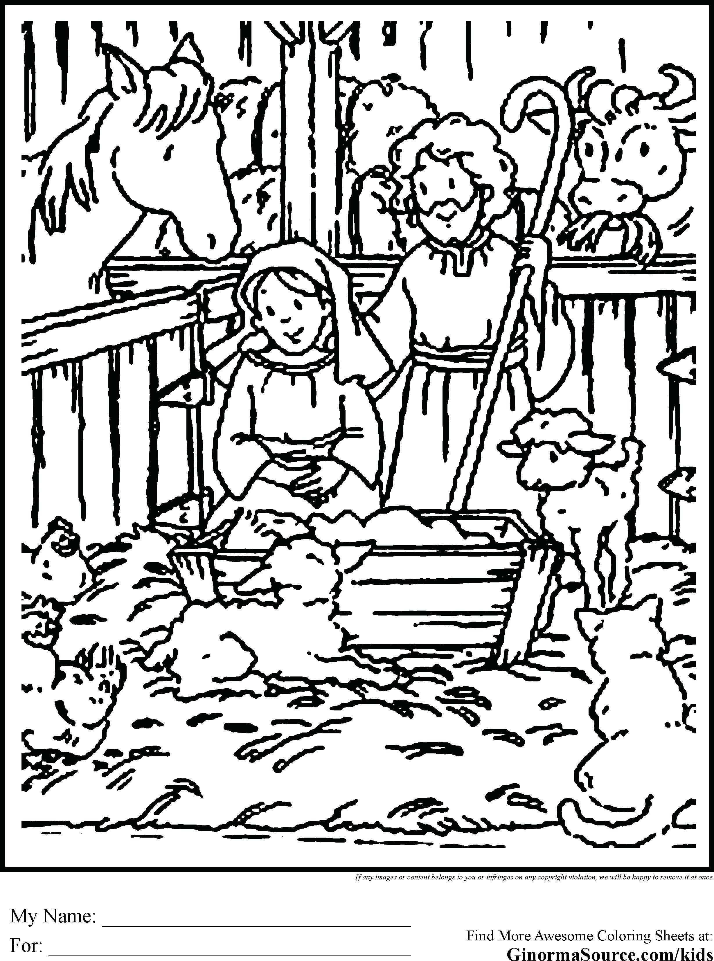 2459x3310 Sturdy Manger Coloring Page Nativity Pages Pic