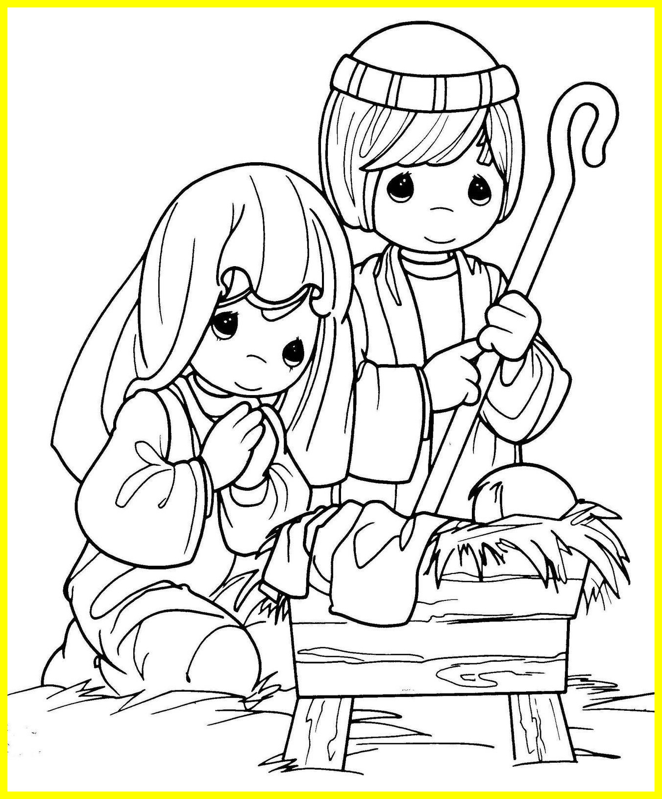 1351x1630 Best Baby Jesus Manger Coloring Pages Nativity Book Colorine