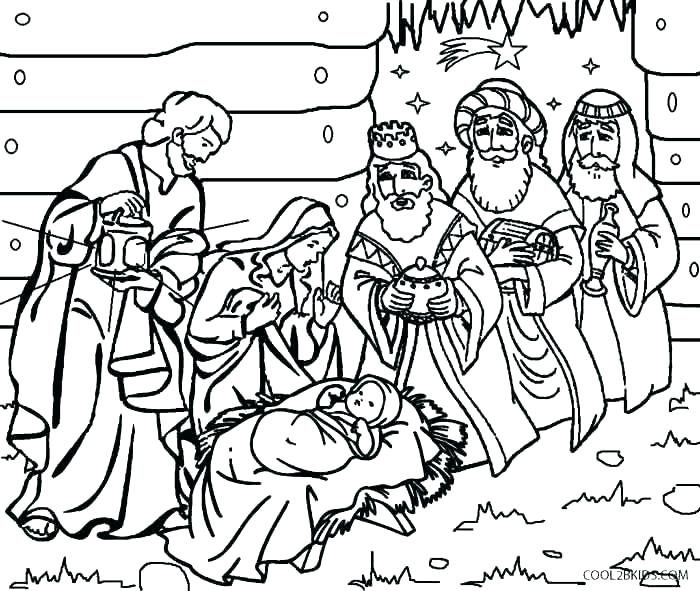 700x591 Coloring Pages Nativity Nativity Color Page Manger Coloring Page