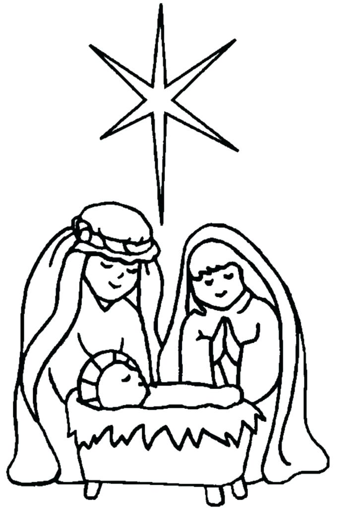 706x1024 Colouring Pages Of The Nativity Scene Manger Coloring Page